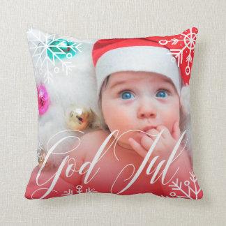 Good Christma - own photo - snowflakes Throw Pillow