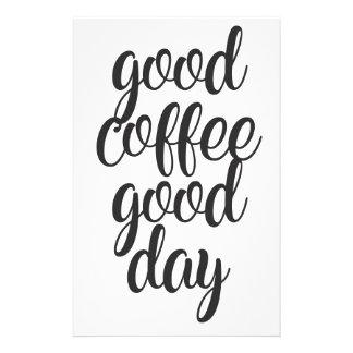 Good Coffee Good Day Stationery