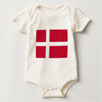 Good color Denmark flag Print Baby Bodysuit