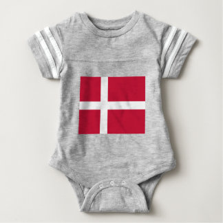 Good color Denmark flag Print Baby Bodysuit