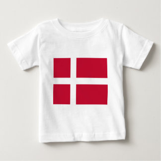Good color Denmark flag Print Baby T-Shirt