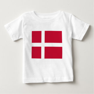 Good color Denmark flag Print Baby T-Shirt