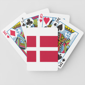Good color Denmark flag Print Bicycle Playing Cards