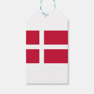 Good color Denmark flag Print Gift Tags