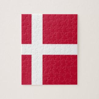Good color Denmark flag Print Jigsaw Puzzle