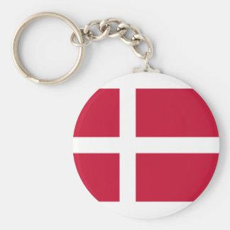 Good color Denmark flag Print Keychain