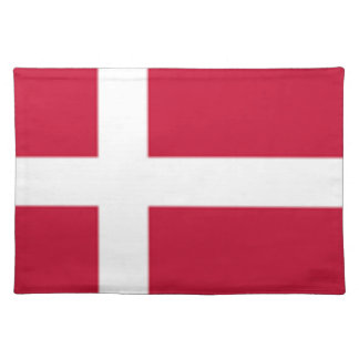 Good color Denmark flag Print Placemat