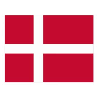 Good color Denmark flag Print Postcard