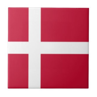 Good color Denmark flag Print Tile