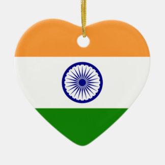 "Good color Indian flag ""Tiranga"" Ceramic Ornament"