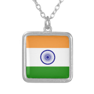 "Good color Indian flag ""Tiranga"" Silver Plated Necklace"