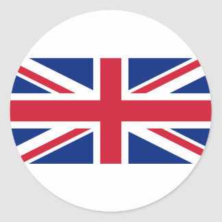 "Good color UK United Kingdom flag ""Union Jack"" Classic Round Sticker"