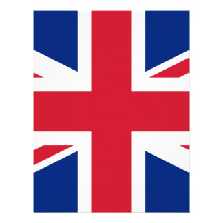 "Good color UK United Kingdom flag ""Union Jack"" Letterhead"