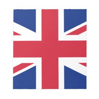 """Good color UK United Kingdom flag """"Union Jack"""" Notepad"""