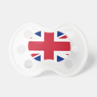 "Good color UK United Kingdom flag ""Union Jack"" Pacifier"