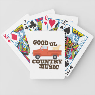 Good Country Music Poker Deck