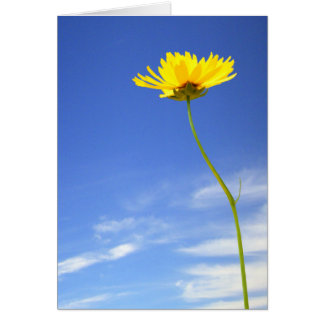 Good Day! l Yellow Flower Against Blue Sky Card