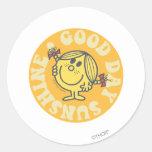 Good Day Little Miss Sunshine Round Sticker