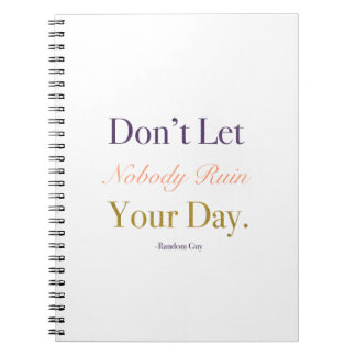 Good Day Notebook Gold Accent