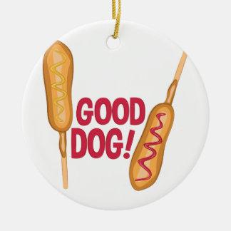 Good Dog Ceramic Ornament