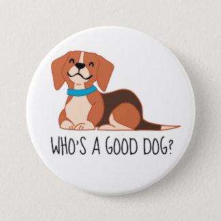 Good Dog Large, 3 Inch Round Button