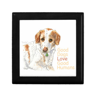 Good dogs love good humans watercolor gift box