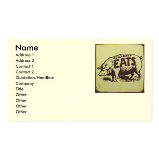 Good Eats Catering Business Card Template