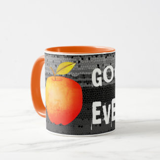 Good Evening Apple Red Vibrant Cartoon Rusted Cool Mug