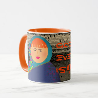 Good Evening Isabelle Orange Mosaic Rich Bold Mug