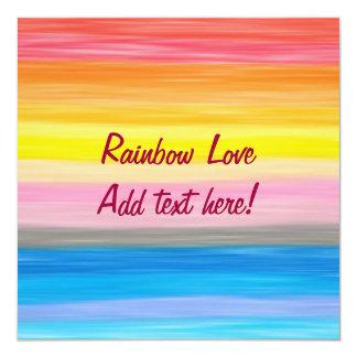"Good Feeling - Rainbow Cards 5.25"" Square Invitation Card"