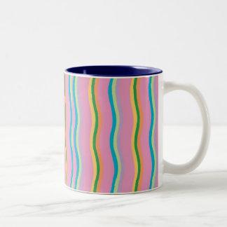 good feeling rainbow Two-Tone mug