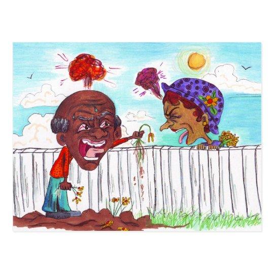 Good Fences Make Good Neighbours Postcard