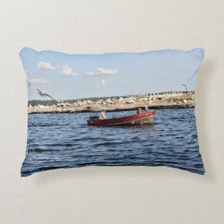 Good Fishing On Lake Vermilion horizontal throw Decorative Pillow
