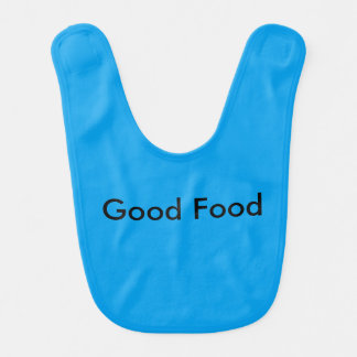 Good Food blue child bib