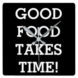 Good food takes time wallclocks