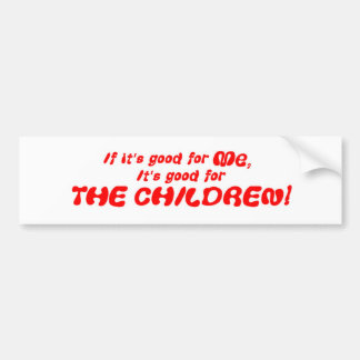 Good For Me red Bumper Sticker