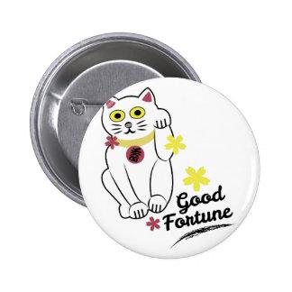Good Fortune 2 Inch Round Button
