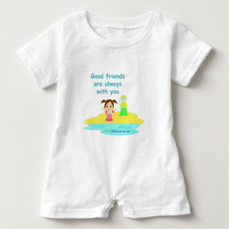 Good friends baby romper