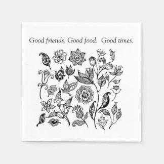 Good friends. Good food, Good times napkins