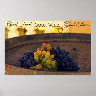 Good friends, good wine, good times poster