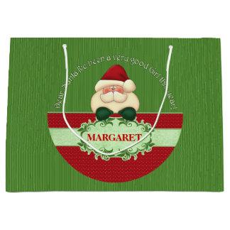 Good Girl - LARGE Dear Santa Red and Green Large Gift Bag