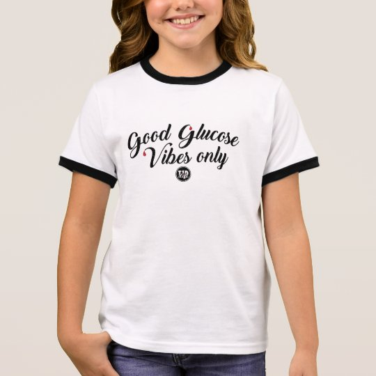 Good Glucose Vibes (Girl's) Ringer T-Shirt