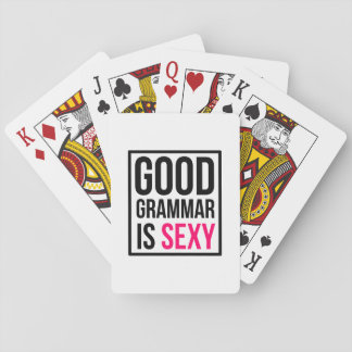 Good Grammar is Sexy Playing Cards