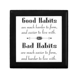 Good Habits Bad Habits Gift Box