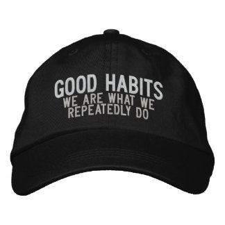 GOOD HABITS EMBROIDERED HAT