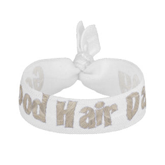 Good Hair Day Funny Realistic Hair Typography Hair Tie