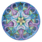 Good Happens Mandala Art Plate
