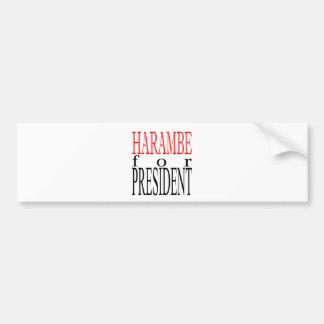 good harambe election president vote guardian gori bumper sticker