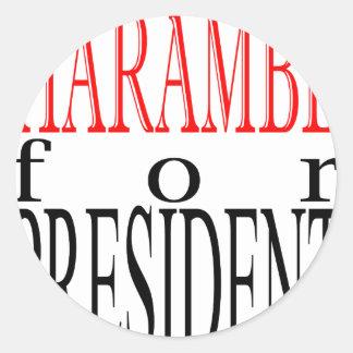 good harambe election president vote guardian gori classic round sticker