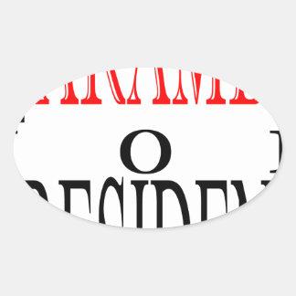 good harambe election president vote guardian gori oval sticker